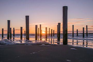 Sonnenuntergang an der Küste von Stephan Scheffer