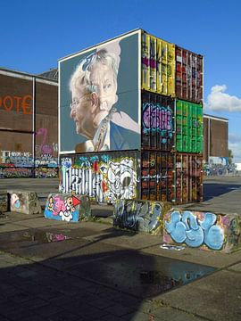 Steet art op de NDSM werf, Amsterdam. von Edward Boer