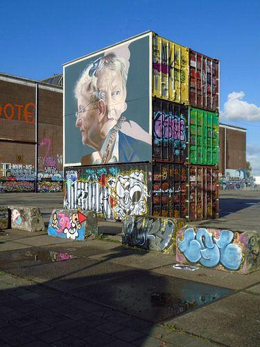 Steet art op de NDSM werf, Amsterdam. van