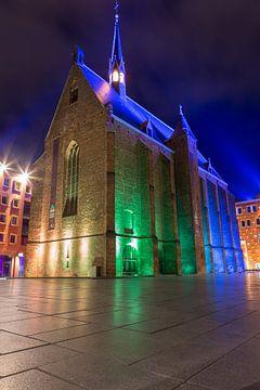 Mariënburgkapel bei Nacht, Nimwegen von Stefan van der Wijst