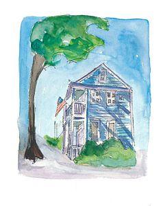 Key West Florida Conch Dream House - Südlichste Straßenszene von