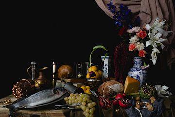 Stilleben mit antikem Schmuck in altniederländischer Fassung von Moniek Kuipers