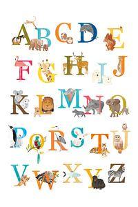 Alfabetposter dieren Nederlands van Karin van der Vegt