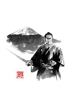 fuji en samurai van Péchane Sumie