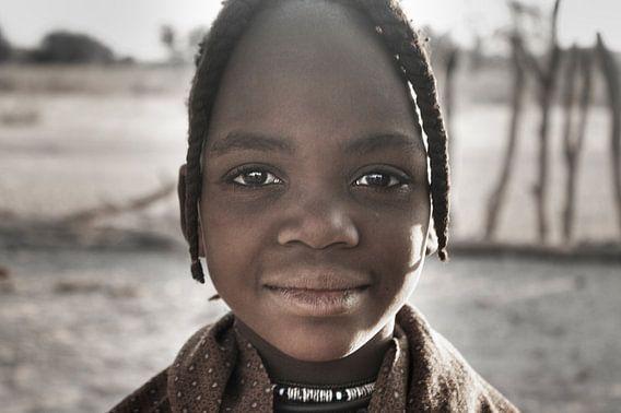 Himba Boy Portrait van BL Photography