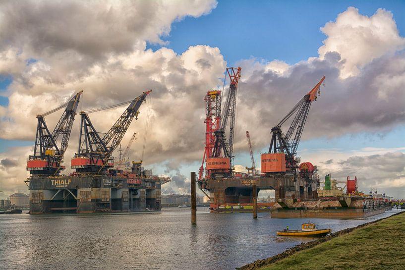 Heerema gezusters in Rotterdamse haven van Dick Kattestaart