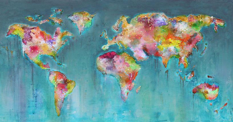 Paint travel map van Atelier Paint-Ing