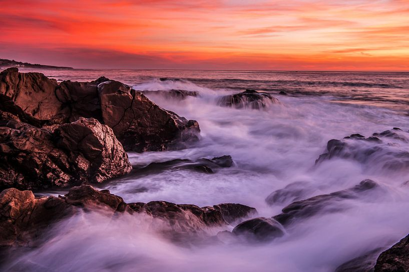 Sunset See USA van Bas Fransen