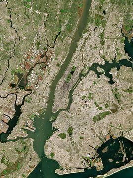 Satellitenbild von New York City, Vereinigte Staaten von Wigger Tims