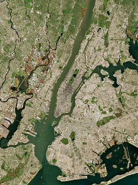 Satellietfoto van New York City, Verenigde Staten van Wigger Tims