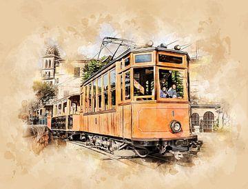 Historische Straßenbahn auf Mallorca von Peter Roder