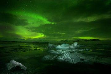 Noorderlicht en ijsbergen von René Wolters