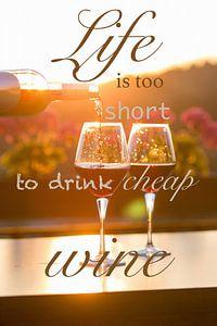 Life is too short to drink cheap wine van
