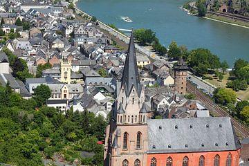 Liebfrauenkirche met oude binnenstad, Oberwesel, Unesco Werelderfgoed Oberwesel, Rijndal, Rijnland-P van Torsten Krüger