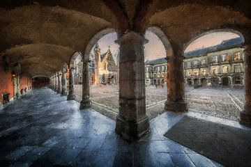 Den Haag Binnenhof van Digitale Schilderijen