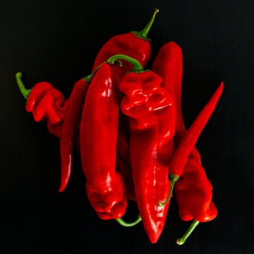 Paprika's & pepers van Miranda van Hulst