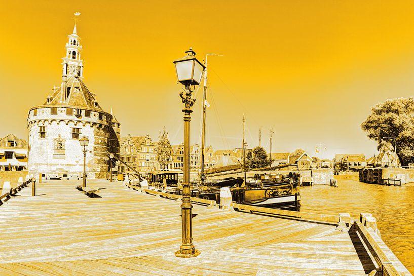 Hoorn Noord-Holland Nederland Haven Gold van Hendrik-Jan Kornelis