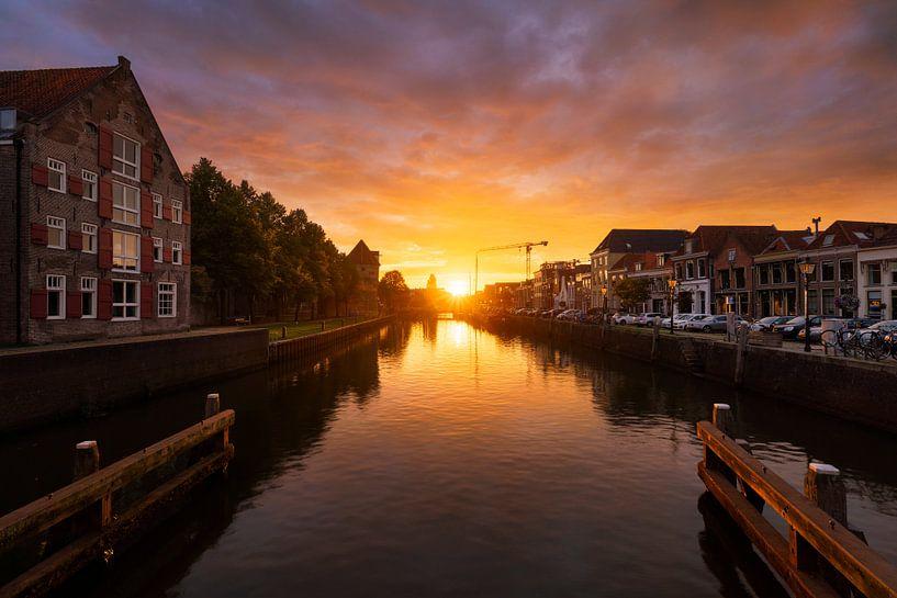 Zonsondergang Zwolle Thorbecke Gracht van Rick Kloekke