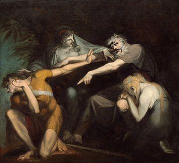 Ödipus verflucht seinen Sohn, Polynikes, Johann Heinrich Füssli