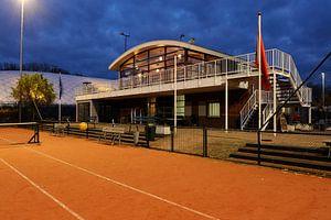 Clubhuis T.C. Domstad aan de Kennedylaan in Utrecht