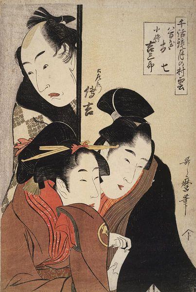 Kitagawa, Utamaro, Yaoya Oshichi, Kosha, Japanse prent van Liszt Collection