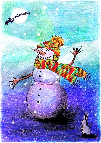 Sneeuwpop van Marloes Boer