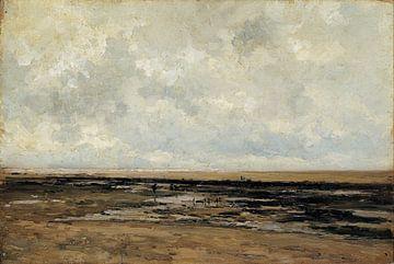 Carlos de Haes-Strand Villerville, Antike Landschaft