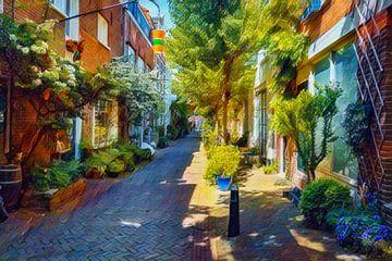 Grünes Stadtbild Haarlem von Hilda Weges