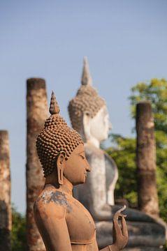 Boeddhabeelden in Sukkothai