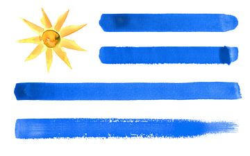 Symbolische nationale vlag van Uruguay van Achim Prill
