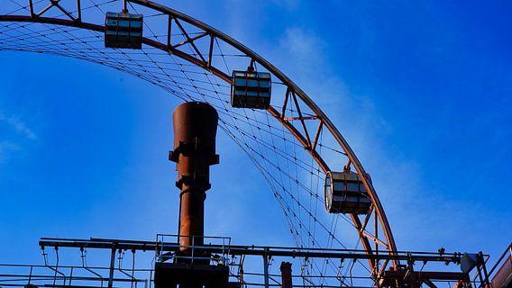 Het zonnewiel van de cokesfabriek in Essen