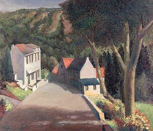 Blick auf eine Straße in (vermutlich) Burg Reuland von Galerie Ringoot