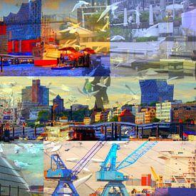 Hamburg-Collage van Peter Norden
