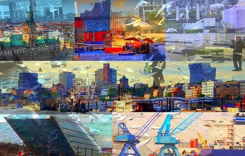 Hamburg-Collage van