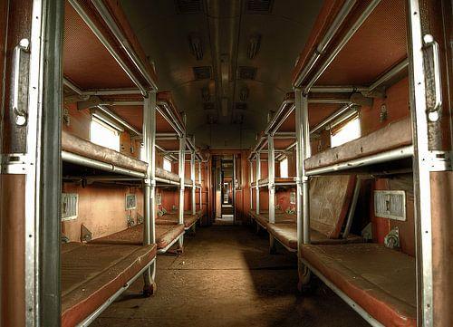 Abandoned sleeping train van