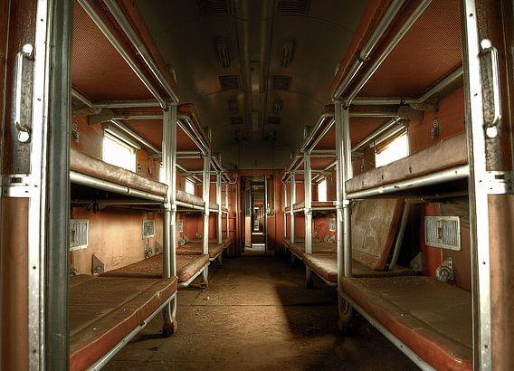 Abandoned sleeping train