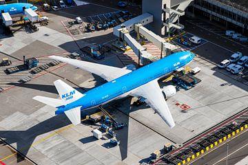 Le Boeing 777 de KLM à la porte