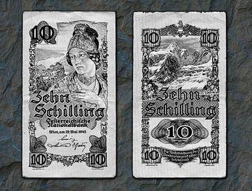 Ten Austrian shillings van Leopold Brix