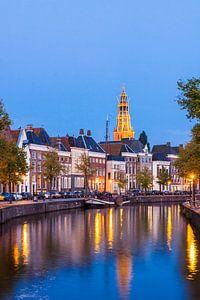 Hoge der A Groningen bij Avond (poster)