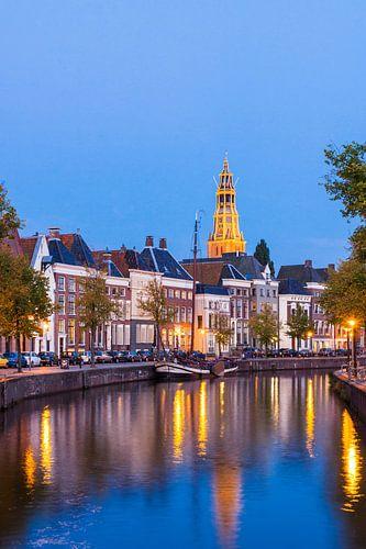 Hoge der A Groningen bij Avond (poster) van Frenk Volt