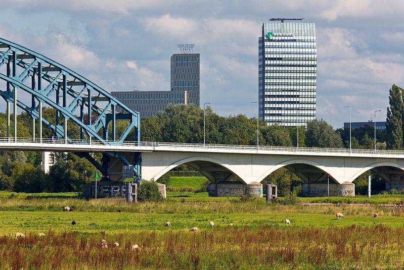 Zwolle IJsseltoren en IJsselbrug van Anton de Zeeuw