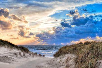 strandopgang Noordzeestrand van eric van der eijk