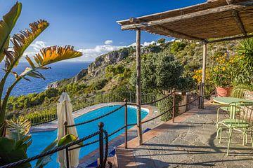 Rustplaats met uitzicht over Capri van Christian Müringer