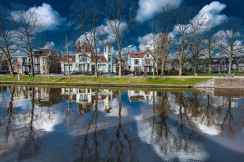 Noordersingel in Leeuwarden ter hoogte van de Noorderbrug en deel Spanjaardslaan von Harrie Muis