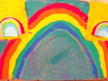 Regenboog tekening van
