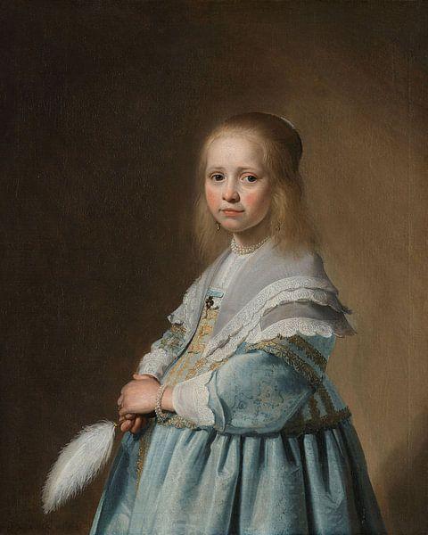 Porträt eines Mädchen in blau gekleidet - Johannes Cornelisz von Meesterlijcke Meesters