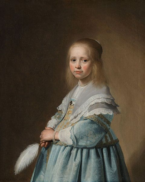 Portret van een meisje in het blauw, Johannes Cornelisz. Verspronck van Meesterlijcke Meesters