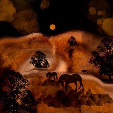 Paarden. van Raina Versluis