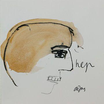 Frank, portret, avatar von Leo de Jong