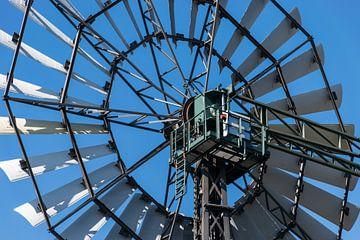 Close up van een boerderij windmolen van Patrick Verhoef